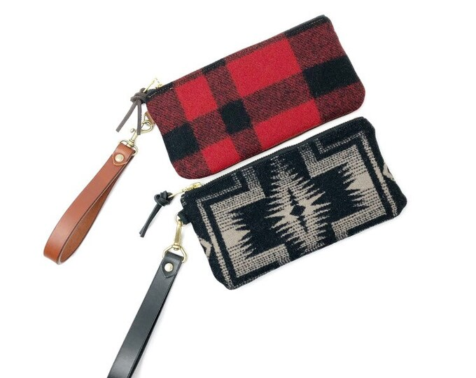 Nova Leather and wool Clutch - Assorted Options