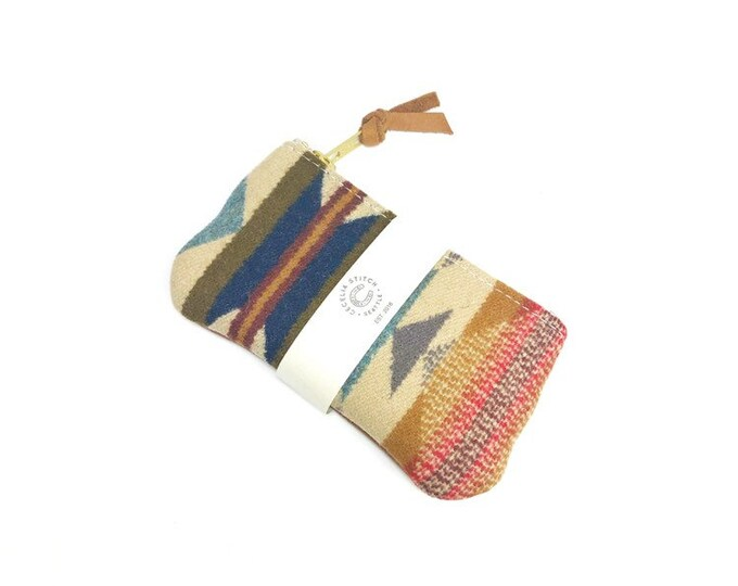 PNW Wool zipper card wallet - Wyeth Trail