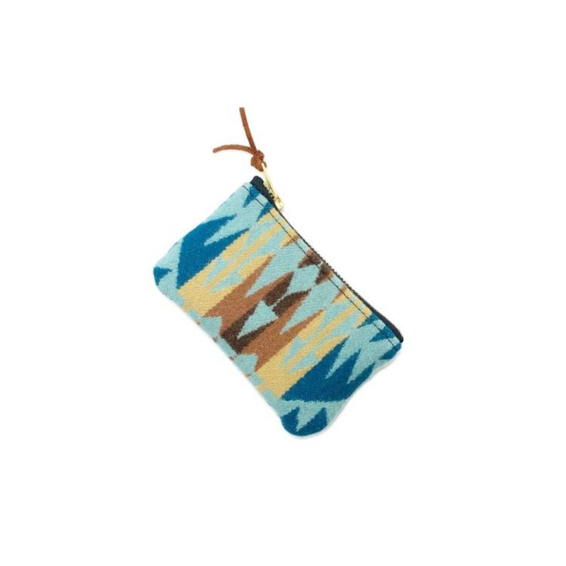 Rancho Aqua PNW Wool zipper card wallet