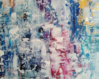 Abstract  painting titled Color   16*20 Abstract Acrylic Canvas Original Painting