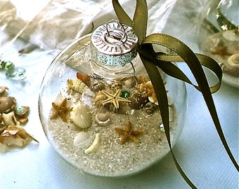 """Temporarily Sold Out.  Beach Ornament """"Memories of the Beach"""" Kit Everything imaginable for your beach ornament.  Great Beach Event Favor!"""