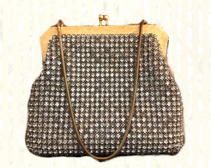 Vintage Walborg Rhinestone Clutch Made in West Germany. Perfect Evening Bag for a Formal Event or a Night Out! Sustainable 1950s Fashion.