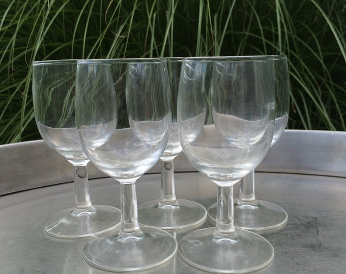 Vintage Wine Glasses Cordial / Shot / Desert Wine Glassware Shaped Glass - Glassware - Barware - Serving - Set of 5