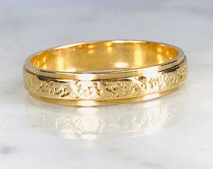 Gold Wedding Band in 9k Yellow Gold. Perfect Wedding Ring, Thumb Ring or Stacking Band