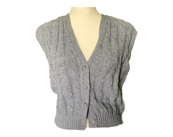 1970s Gray Wool Sweater Vest by Pendleton. Perfect for the Equestrian Chic Fall Trend. Sustainable Fashion Clothing.