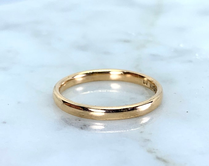 Rose Gold Wedding Band Circa 1977. Perfect Wedding Ring or Stacking Band. Full European Hallmark.
