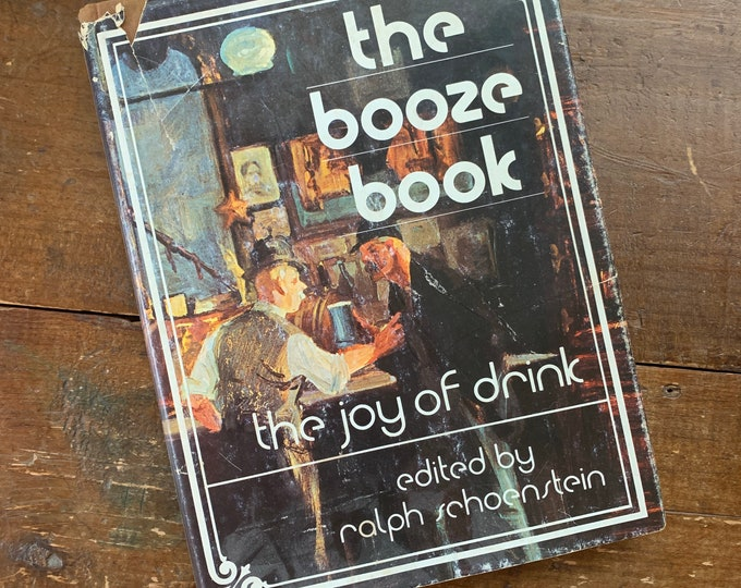 "Vintage Cocktail Recipe Book ""The Booze Book the Joy of Drinking"" by Playboy. So fun perfect for housewarming."