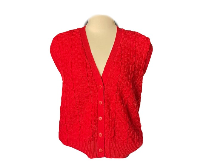 1970s Red Wool Sweater Vest by Pendleton. Perfect for the Equestrian Chic Fall Trend. 1970s Sustainable Fashion Clothing.