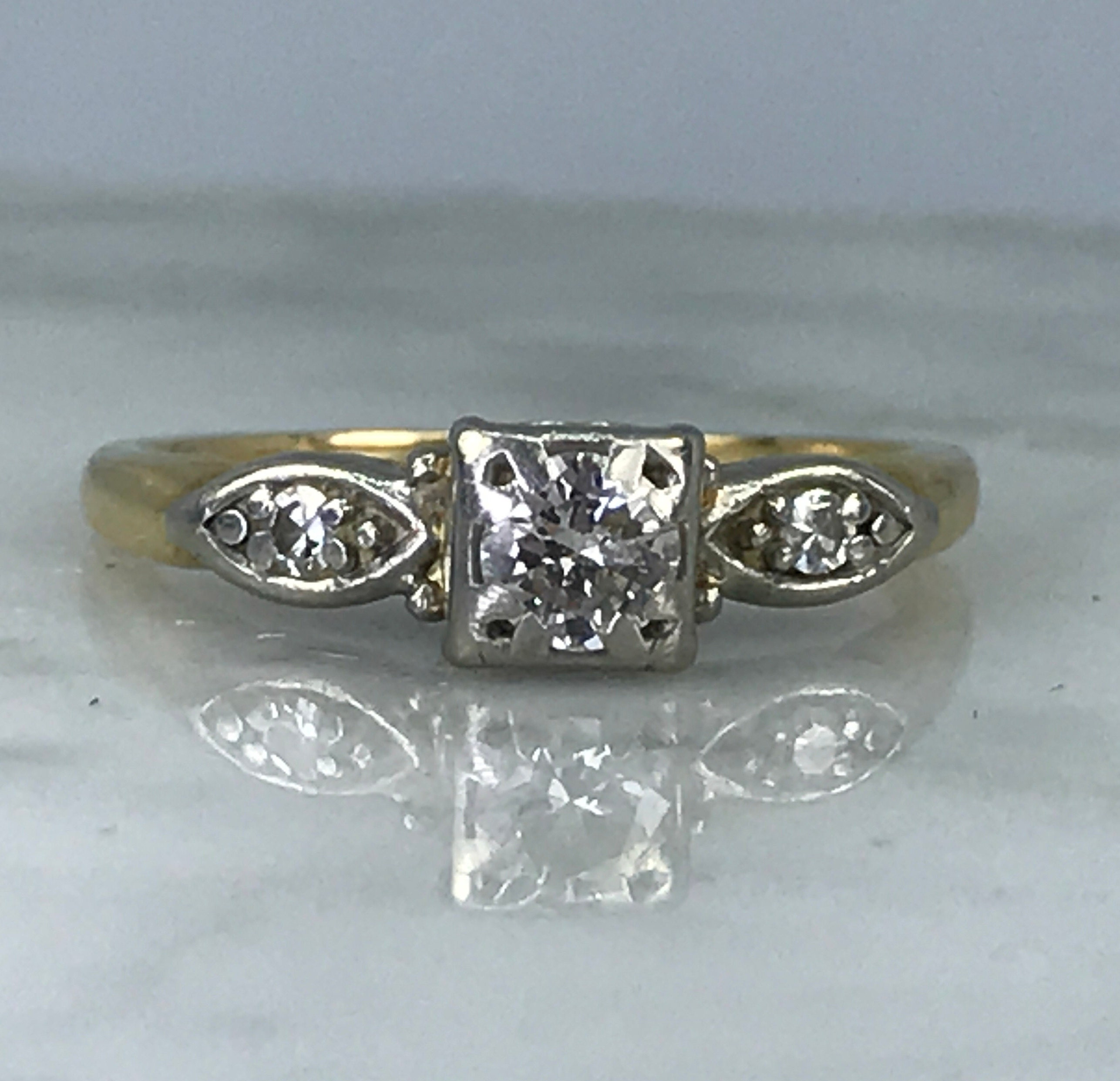 1920s Art Deco Diamond Engagement Ring By Jabel In 14k Gold