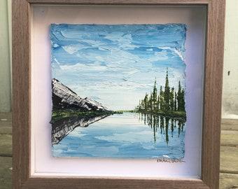 Reflection - Impasto Landscape