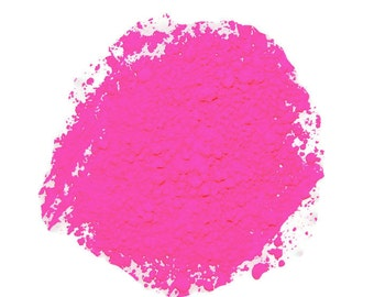 ON SALE!! Neon Pink Fluorescent Pigment Powder for Paints, Nail Art, Soap Making, Candle Making and other Craft Projects