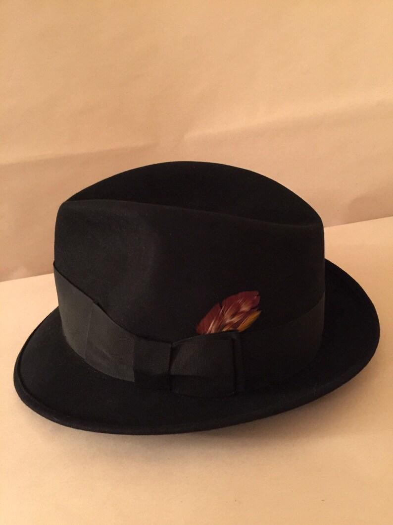 37c85ad195ade True Vintage Handmade Black Fedora Ecuador Hat Company