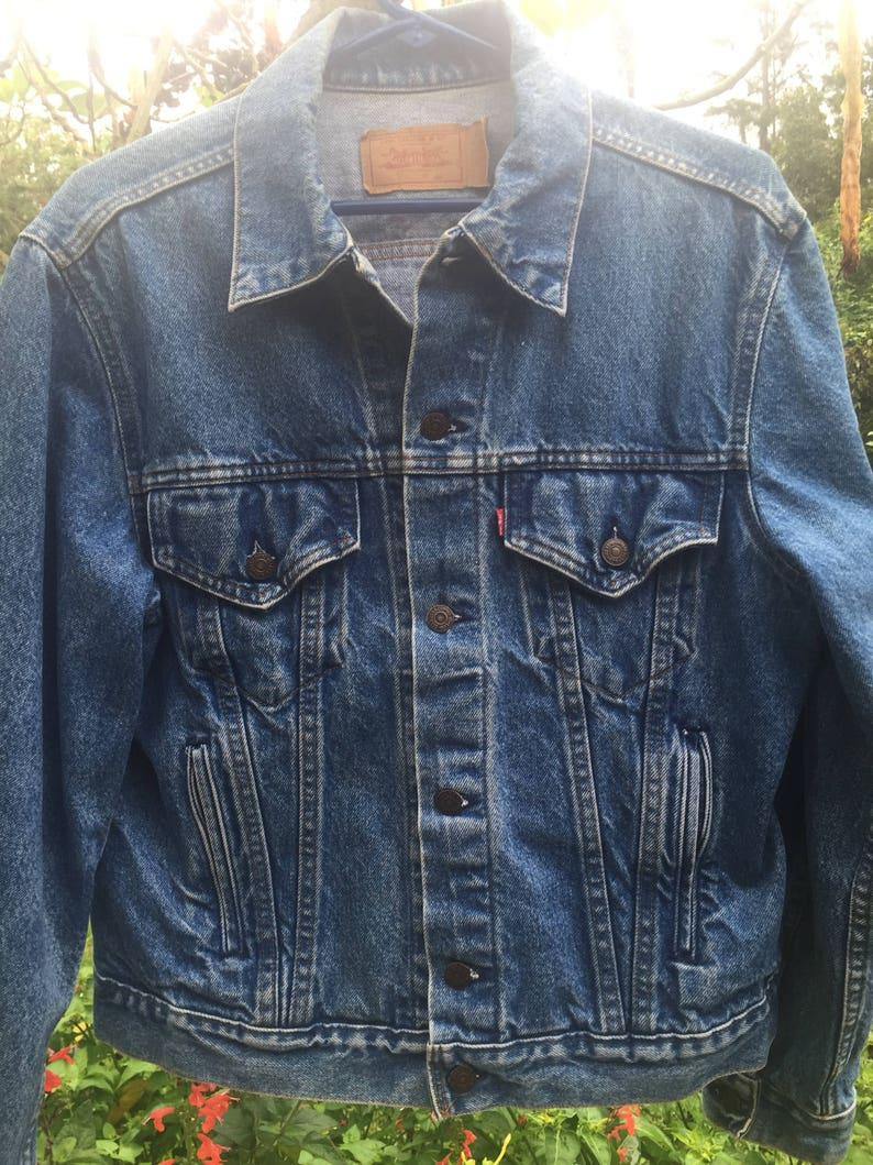 7bfbbc55df Vintage Levi s Blue Jean Trucker Jacket Stone washed Denim