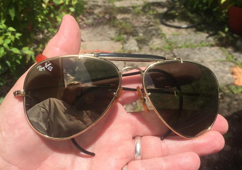 173c6777a3d Vintage Original Ray Ban Survivors Series Diamond-hard Aviators Sunglasses  USA m... Vintage Original Ray Ban Survivors Series Diamond-hard Aviators ...