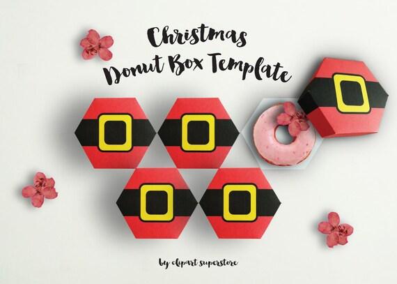 noël donut box jpg pdf téléchargement immédiat imprimable etsy