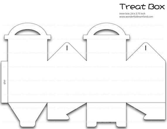 Treats Gift Box Template Pdf Png Instant Download Printable Etsy