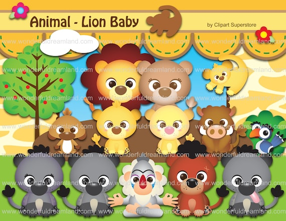 Baby Lion Clipart Svg Png Eps Vector Instant Download Etsy