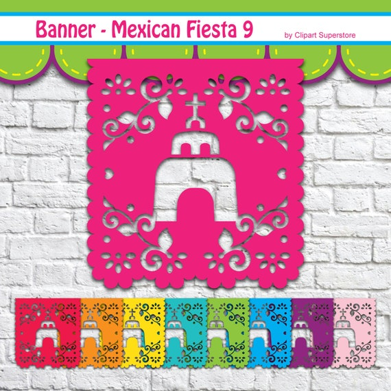 Mexican Fiesta Banner 9 Svg Png Eps Vector Mexico Cancun Etsy