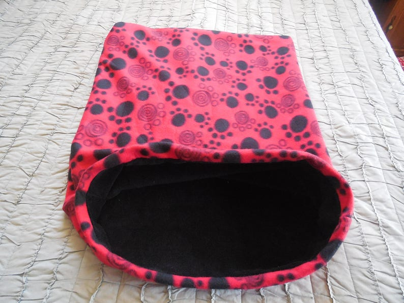 Red with Black Paw Snuggle Sac