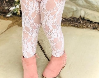 Lace Stockings, White Floral Lace Tights