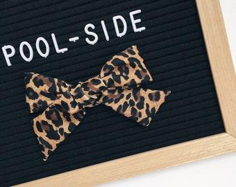Swim Bow, Leopard POOLSIDE LANA Bow, Polkadot Bow