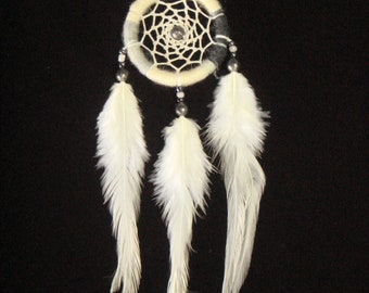 Small Dream Catcher With White Feather