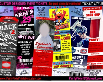 Custom event ticket | Etsy