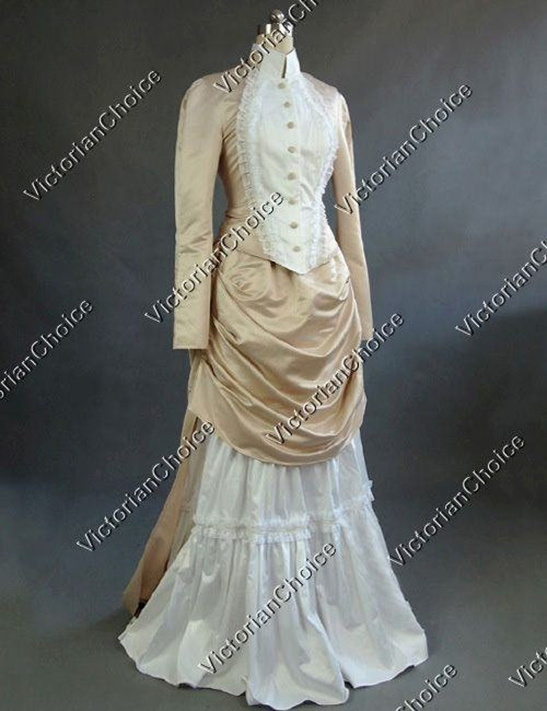 Victorian Dresses | Victorian Ballgowns | Victorian Clothing Victorian Edwardian Bustle Vintage Bridal Gown Wedding Dress Riding Habit Theater Premium Quality $155.00 AT vintagedancer.com