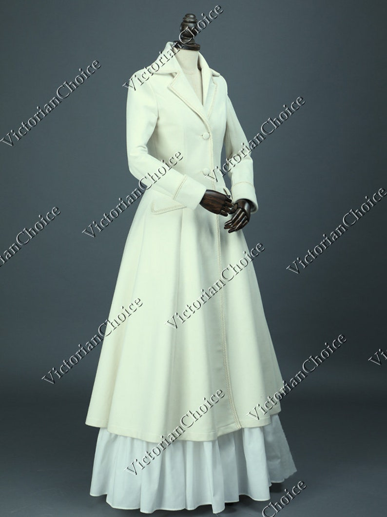 Victorian Clothing, Costumes & 1800s Fashion Victorian Edwardian Sherlock Holmes Theater Military Steampunk Punk Coat Dress Cosplay Halloween Costume $175.00 AT vintagedancer.com