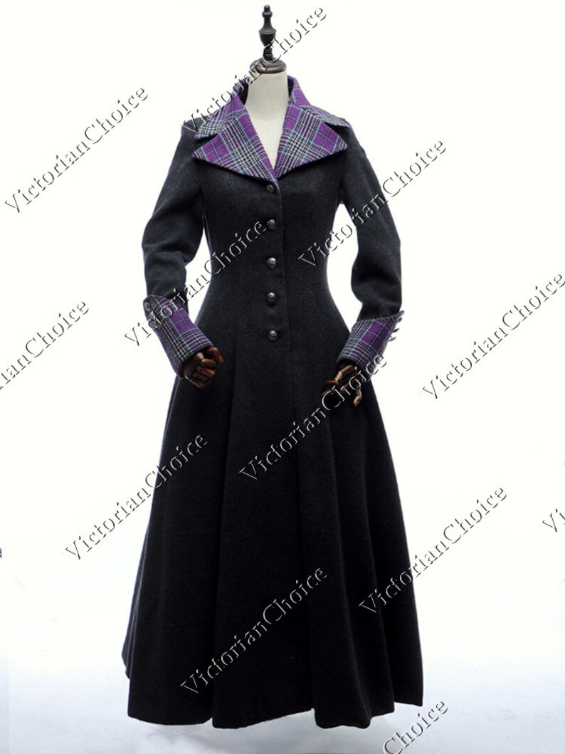 Victorian Jacket, Coat, Ladies Suits | Edwardian, 1910s, WWI Victorian Edwardian Wool and Plaid Vintage 1920s Winter Coat Sherlock Holmes Theater Steampunk Cosplay Coat Dress $195.00 AT vintagedancer.com