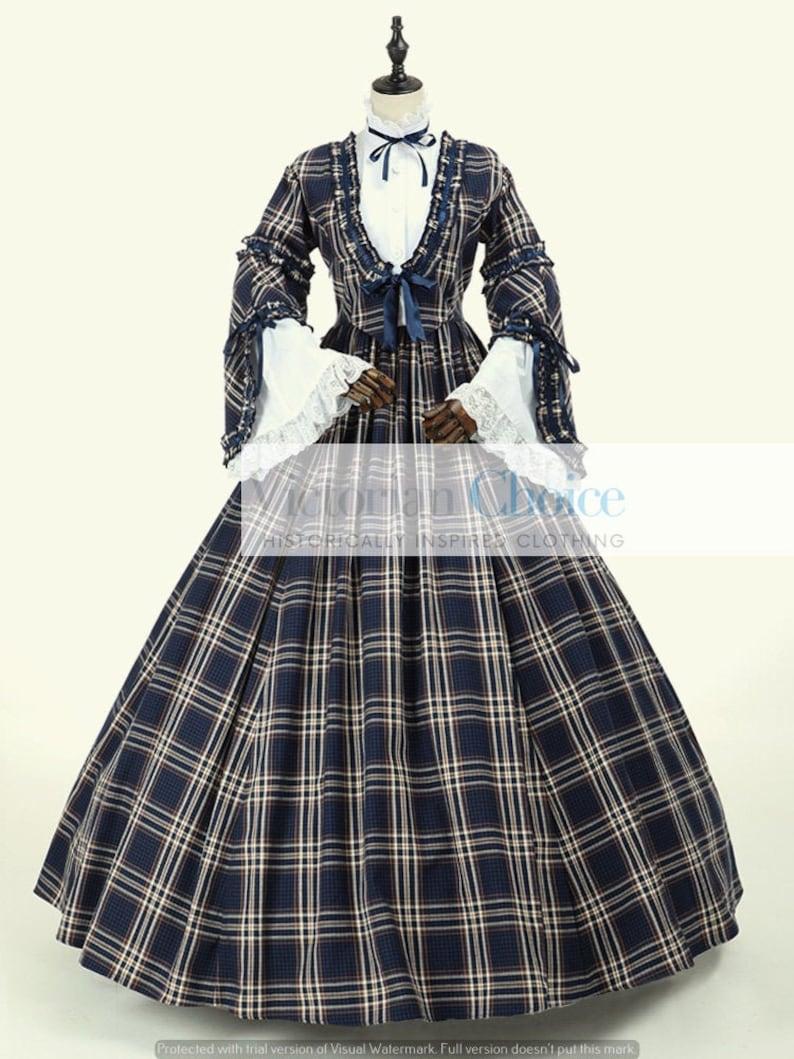 Victorian Dresses | Victorian Ballgowns | Victorian Clothing Victorian Dickens Christmas Carol Caroler Dress Civil War Tartan Dress Pioneer Women Tartan Dress Little Women Costume Theater Costume $175.00 AT vintagedancer.com