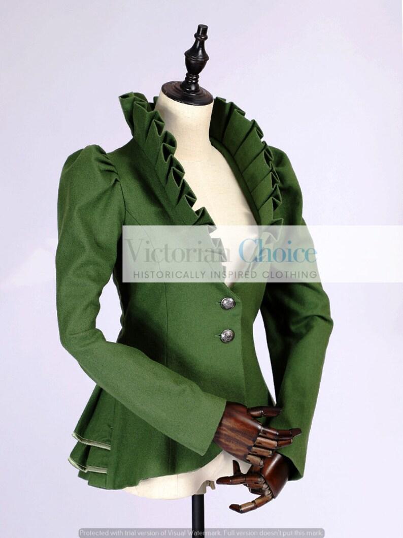 Steampunk Jacket   Steampunk Coat, Overcoat, Cape     Edwardian Vintage Style Olive Green Velvet Blazer Steampunk Jacket Cosplay Girl Blazer Costume Halloween Costume for Women $135.00 AT vintagedancer.com