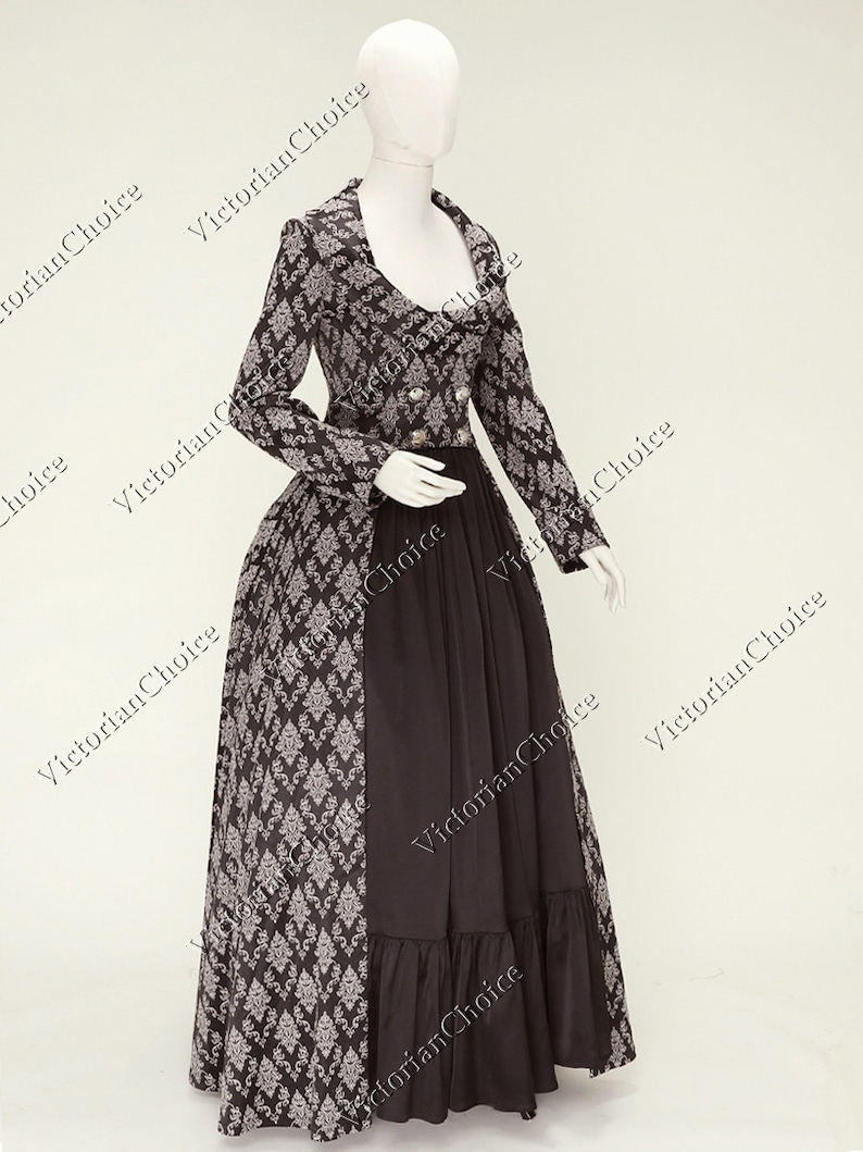 Steampunk Dresses   Women & Girl Costumes     Edwardian Victorian Gothic Sherlock Holmes Steampunk Coat Dress Game of Thrones Costume Theater Comic Con Witch Halloween Costume Women $189.00 AT vintagedancer.com