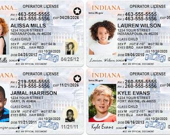 Ohio Kid Driver License for Children Under 12 Child ID Card ...