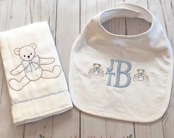 Custom Burp Cloth and Bib Set