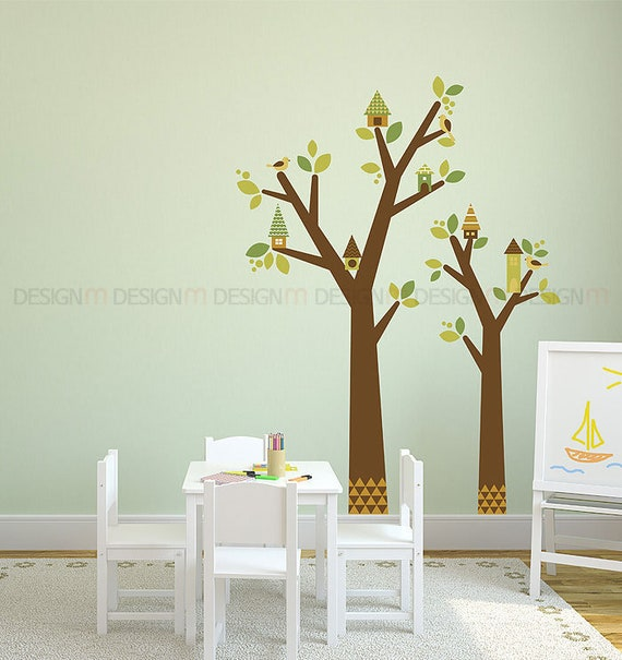 Peel And Stickindian Treewall Point Art Decor Sticker Kids Etsy