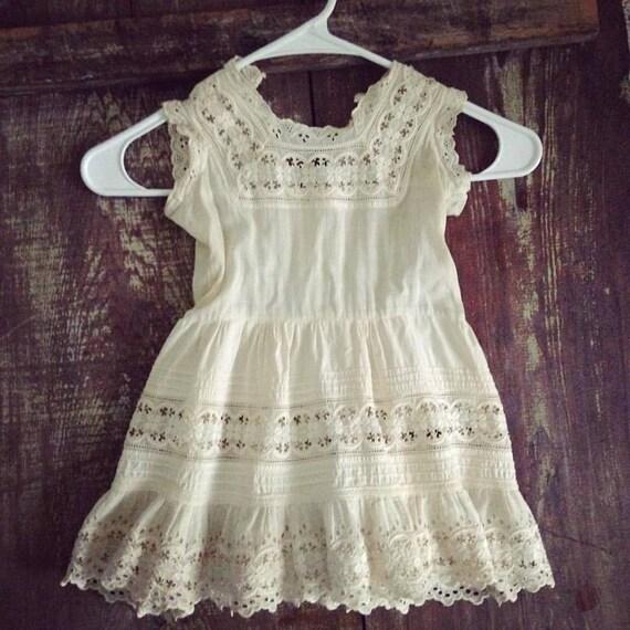 Antique Vintage Child Dress, Child Petticoat Slip