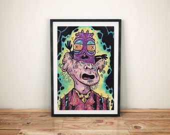 Monster Art - Macabre - Creature Art  -  Weird Strange Painting - Lowbrow - There's a Boogins in My Head