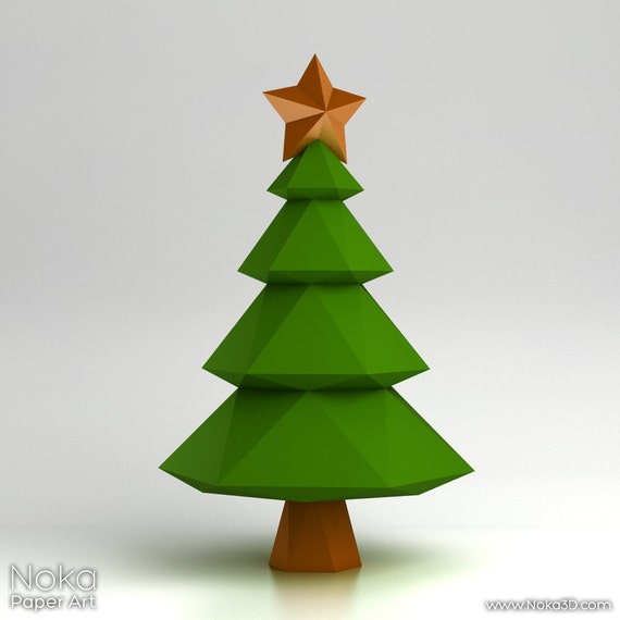 Christmas tree 3d papercraft model downloadable diy etsy image 0 maxwellsz