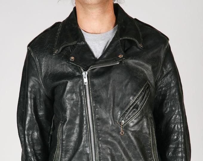 Distressed Vintage Harley Leather Jacket