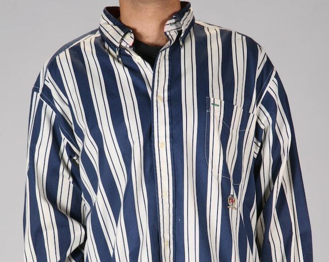 Tommy Blue White Stripe Shirt