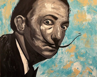 Salvador Dali Large Acrylic painting