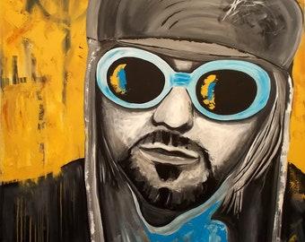 Kurt Cobain Large Acrylic painting