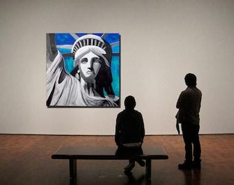 Lady Liberty Large Acrylic painting