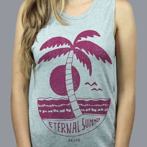 Made in California by California Limited Endless Summer Beach Palm Tree Ocean Waves Eternal Sunshine Women/'s Turquoise Pullover Hoodie