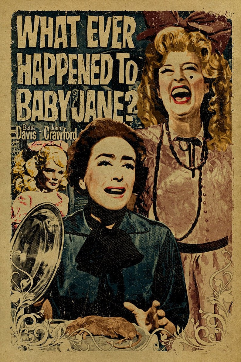 What Ever Happened to Baby Jane Movie Poster | Etsy