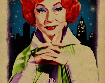 What Would Endora Do? Poster. Bewitched. Agnes Moorehead. Witch. Samantha mother. 12x18. Kraft paper. TV. Art. Print. Gay. Drag Queen.