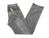 Nylaus Jeans Size 82 W32xL32.5 Nylaus Double Denim Nylaus Jeans Japanese Double Waist Denim Distressed Style
