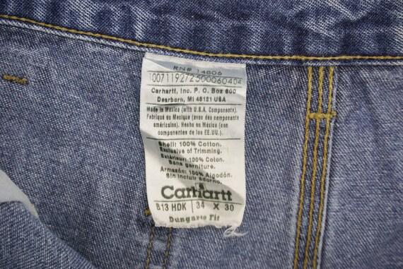 Carhartt Jeans Size 34 W34xL29.5 Carhartt Carpent… - image 8