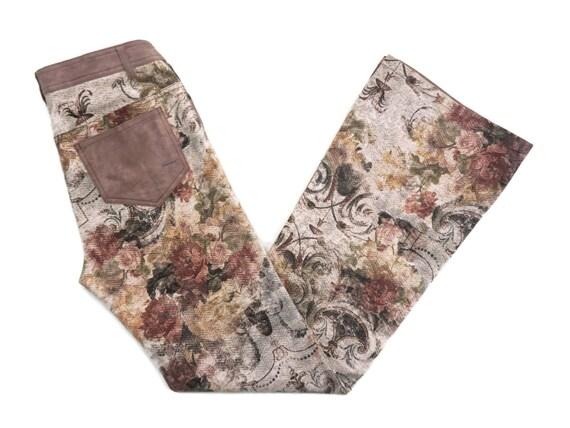 Japanese Floral Pants Size 3 W31xL32 Planet Remix